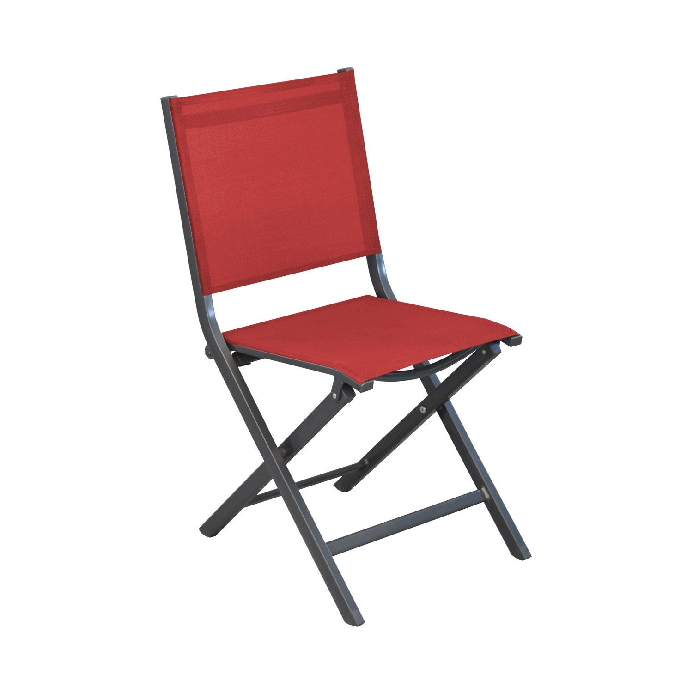 Chaise De Jardin Thma Rouge