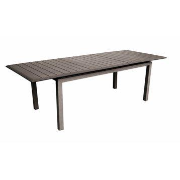 Table de jardin Lousiane rectangulaire café 8 personnes