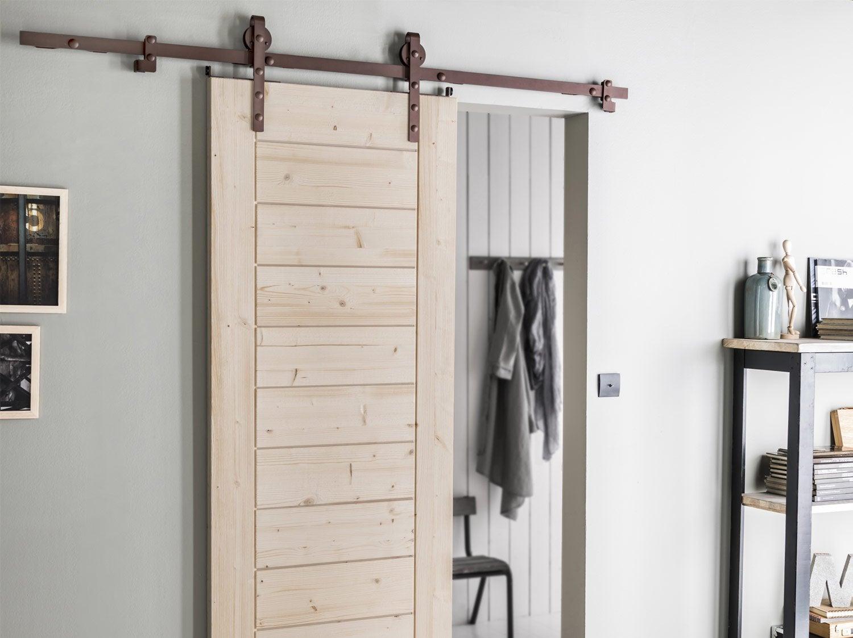 porte coulissante isoplane x cm leroy merlin. Black Bedroom Furniture Sets. Home Design Ideas