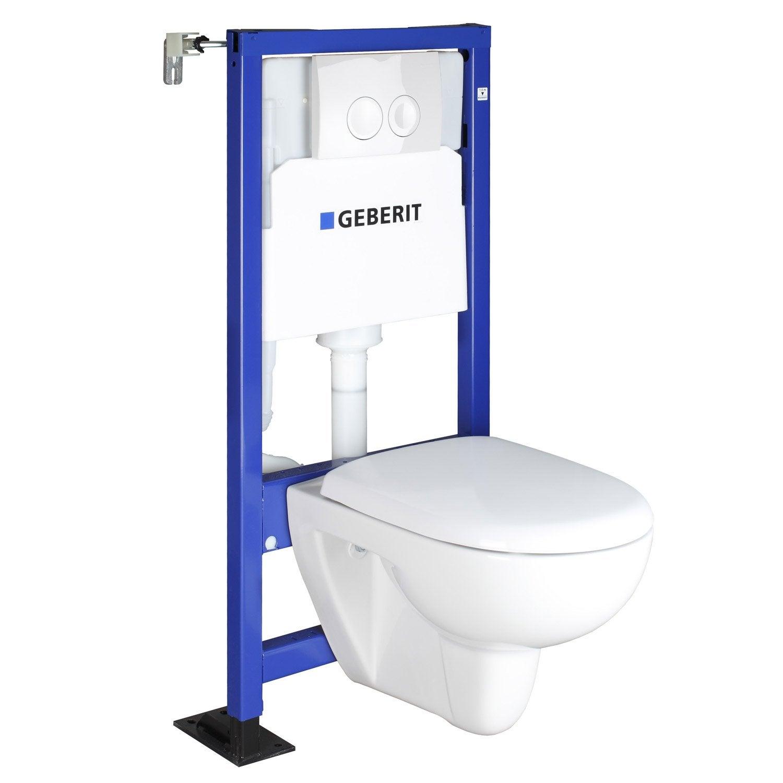 Pack WC suspendu bâti universel, GEBERIT Symbiose rimfree®