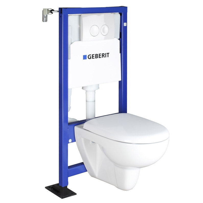 Pack Wc Suspendu Bati Universel Geberit Symbiose Rimfree Leroy