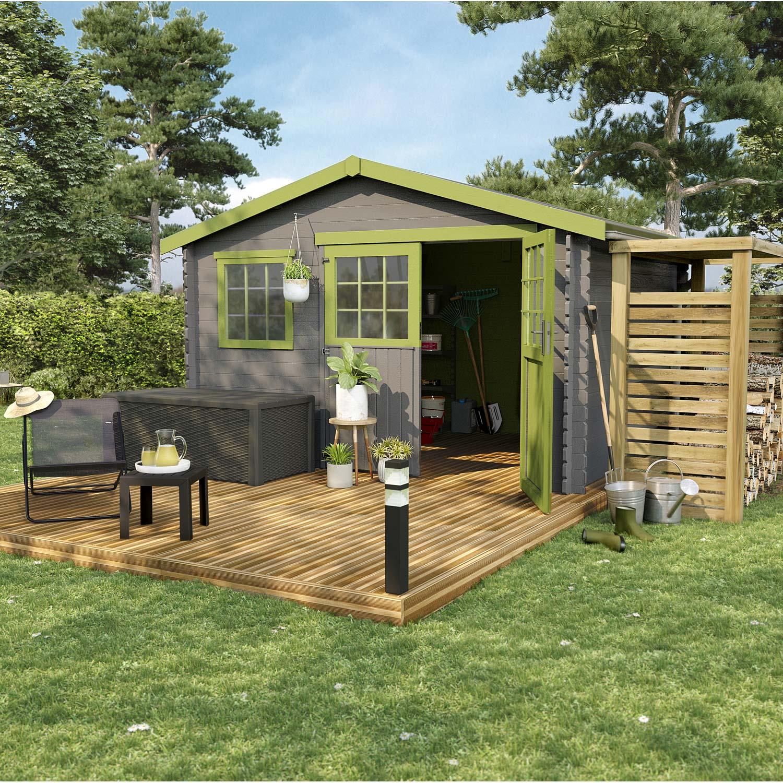 abri de jardin dalle beton ou pas Abri de jardin bois Florentine, 9.03 m² Ep.28 mm ...