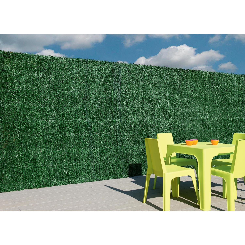 haie artificielle pvc naterial vert cm x cm leroy merlin. Black Bedroom Furniture Sets. Home Design Ideas