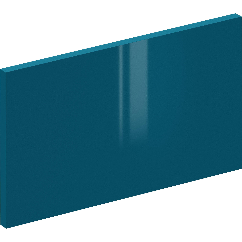 Façade de tiroir de cuisine Sevilla bleu paon, DELINIA ID H.25.3 x l.44.7 cm
