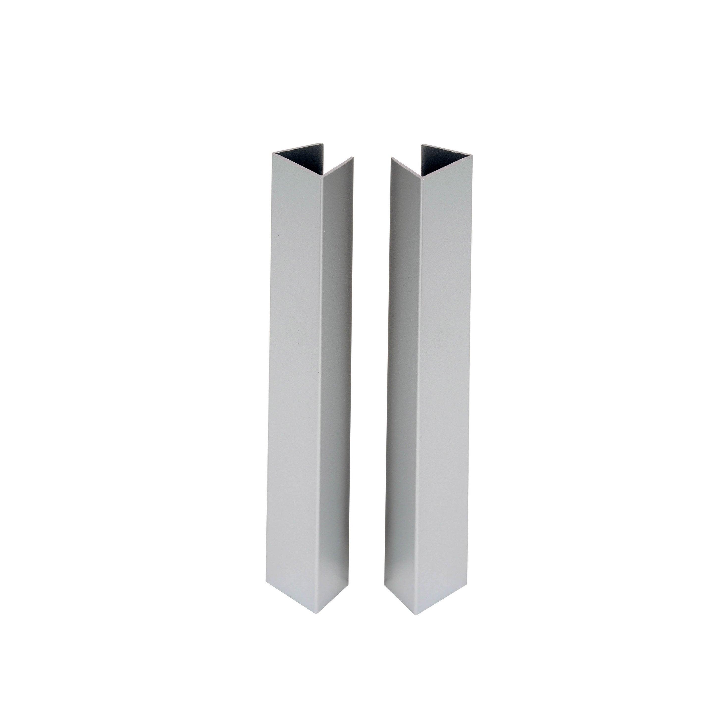 Lot De 4 Profils De Finition Pour Plinthe Aluminium L 19 5 X L