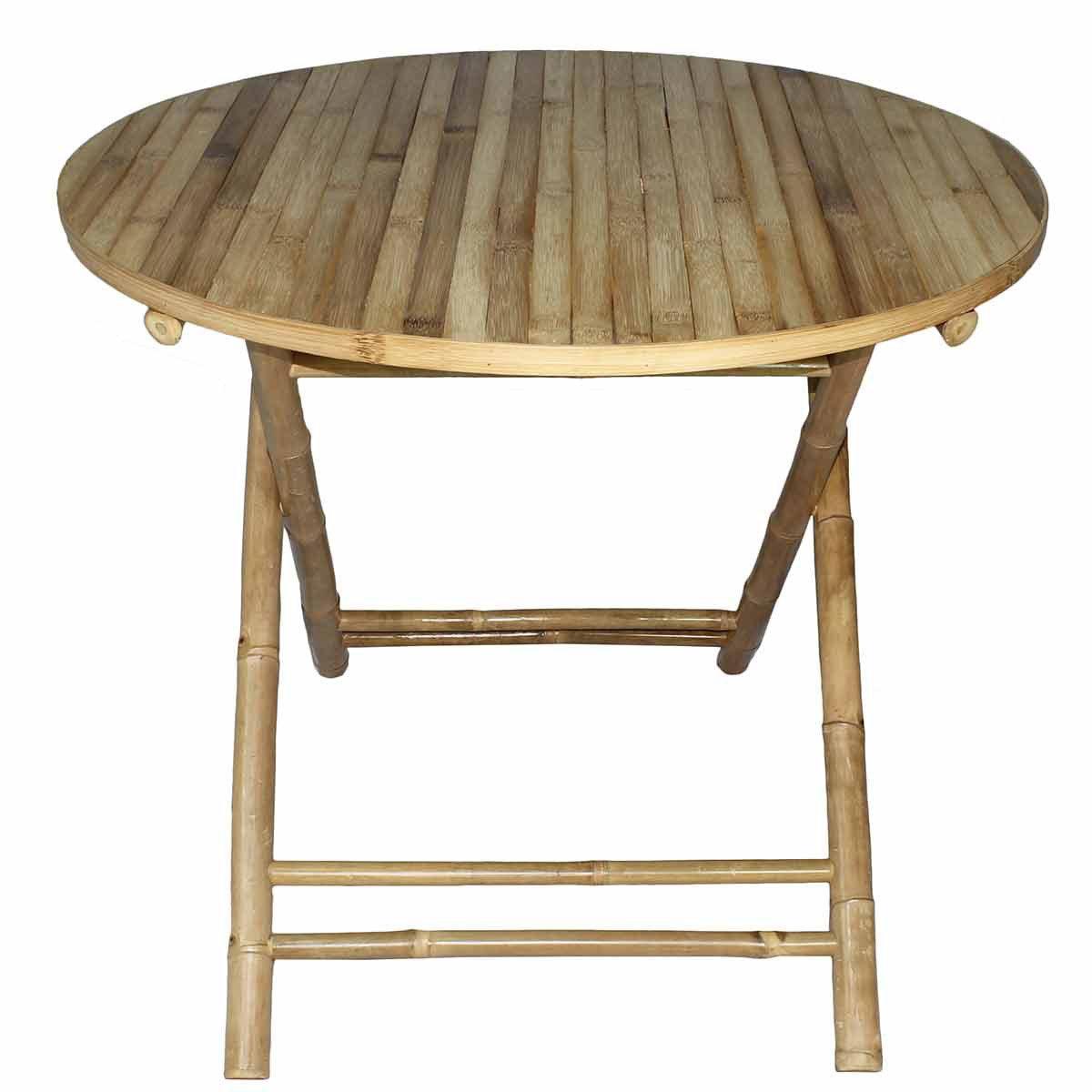 Table Repas 2 Personnes table de repas table ronde pliante taman ronde bambou naturel 2 personnes