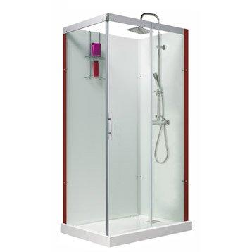 Cabine de douche rectangulaire 110x80 cm, Thalaglass 2 thermo