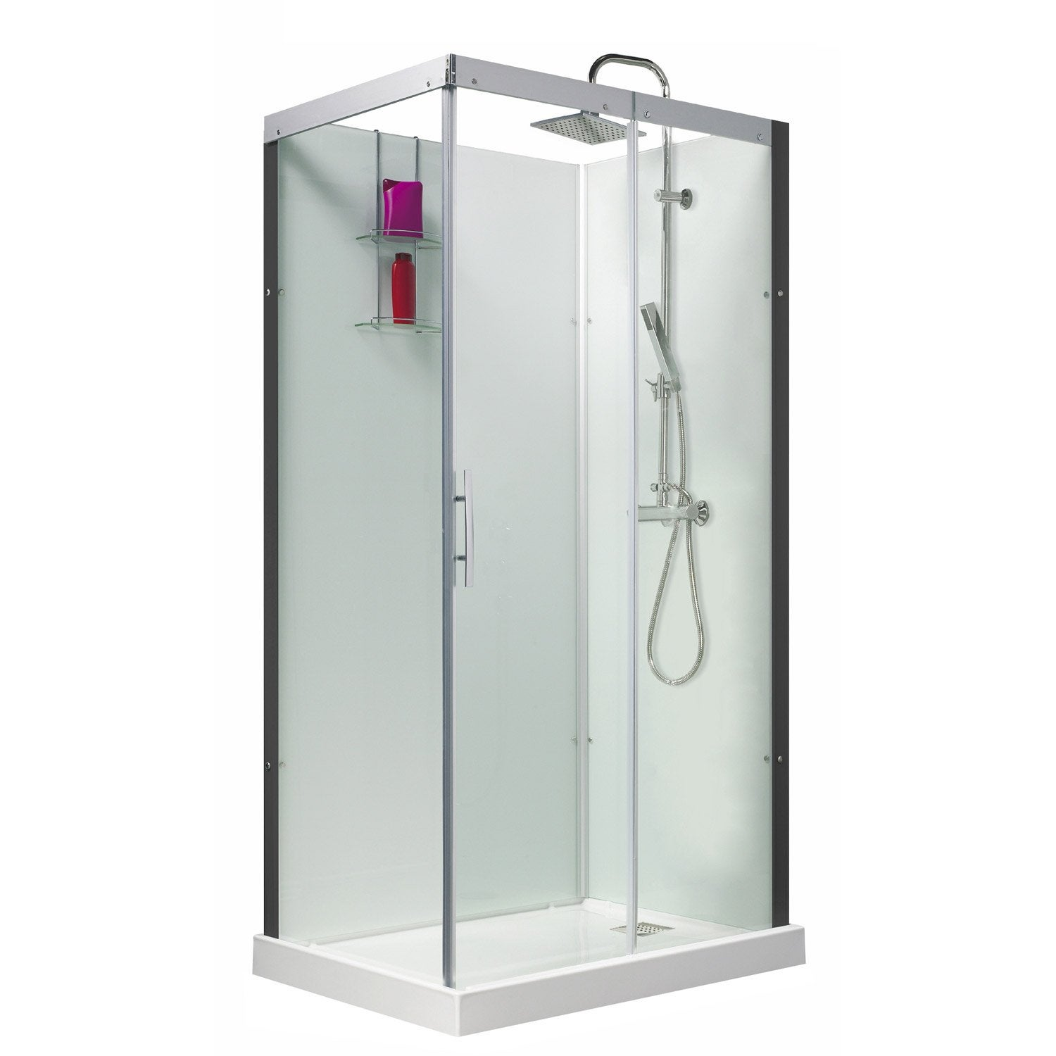 Cabine de douche rectangulaire 110x80 cm, Thalaglass 2 thermo ...