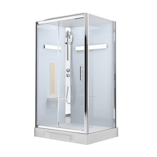cabine de douche rectangulaire 120x80 cm ilia ch ne gauche leroy merlin. Black Bedroom Furniture Sets. Home Design Ideas