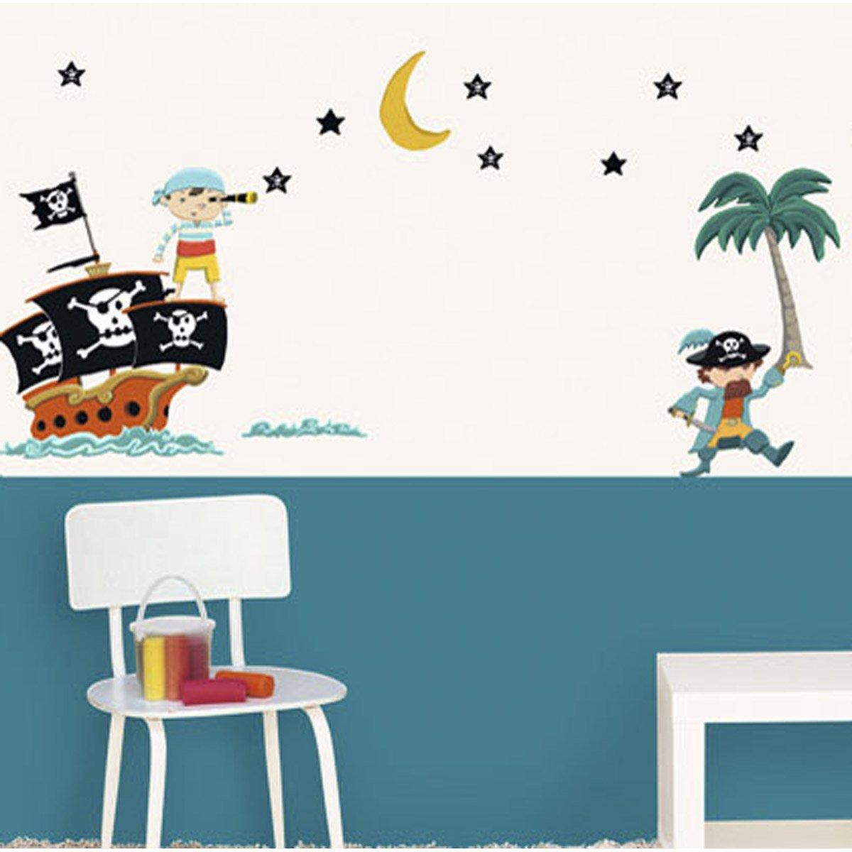 sticker pirates 49 cm x 69 cm leroy merlin. Black Bedroom Furniture Sets. Home Design Ideas