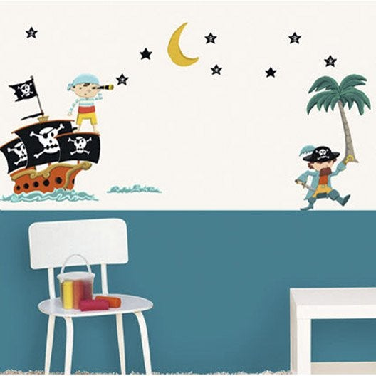 Sticker pirates 49 cm x 69 cm leroy merlin - Leroy merlin stickers ...