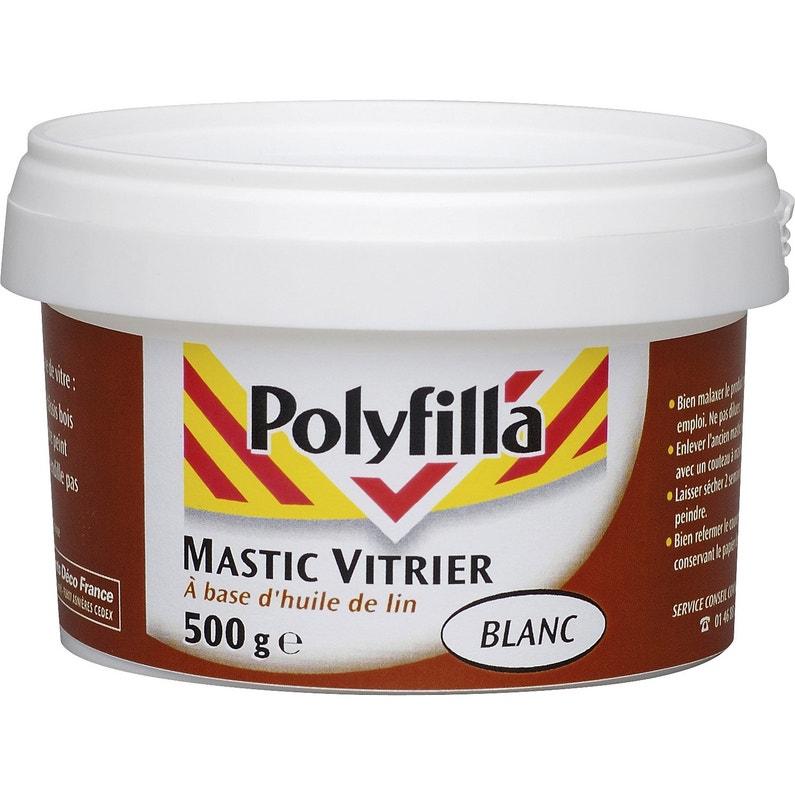 Mastic D étanchéité Polyfilla Vitrier 500 G Blanc