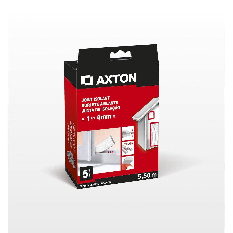 joint de porte et fen tre universel axton de 1 4 mm x 5 5 m blanc leroy merlin. Black Bedroom Furniture Sets. Home Design Ideas