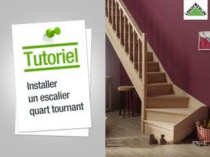 Installer un escalier quart tournant