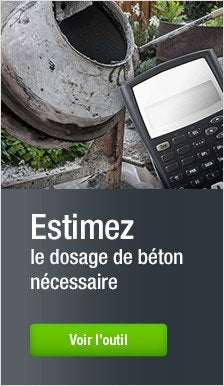 Calculette : Dosage béton