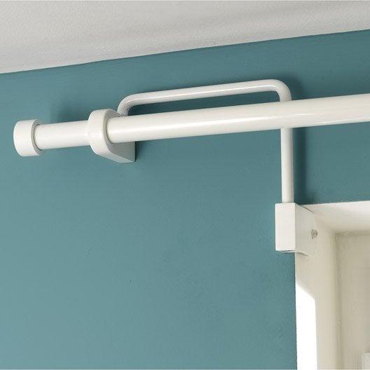 support sans per age ib pour fen tre encastr e blanc diam 25 mm leroy merlin. Black Bedroom Furniture Sets. Home Design Ideas