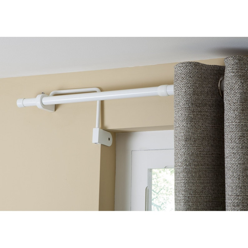 support sans per age tringle rideau ib 25 mm blanc. Black Bedroom Furniture Sets. Home Design Ideas