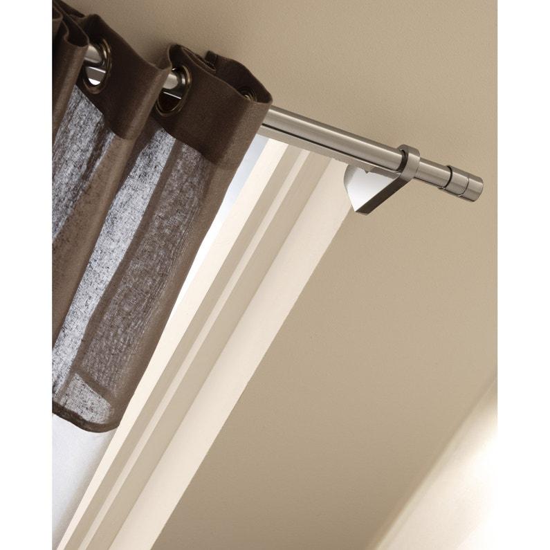 support sans perçage tringle à rideau ib 25 mm chromé