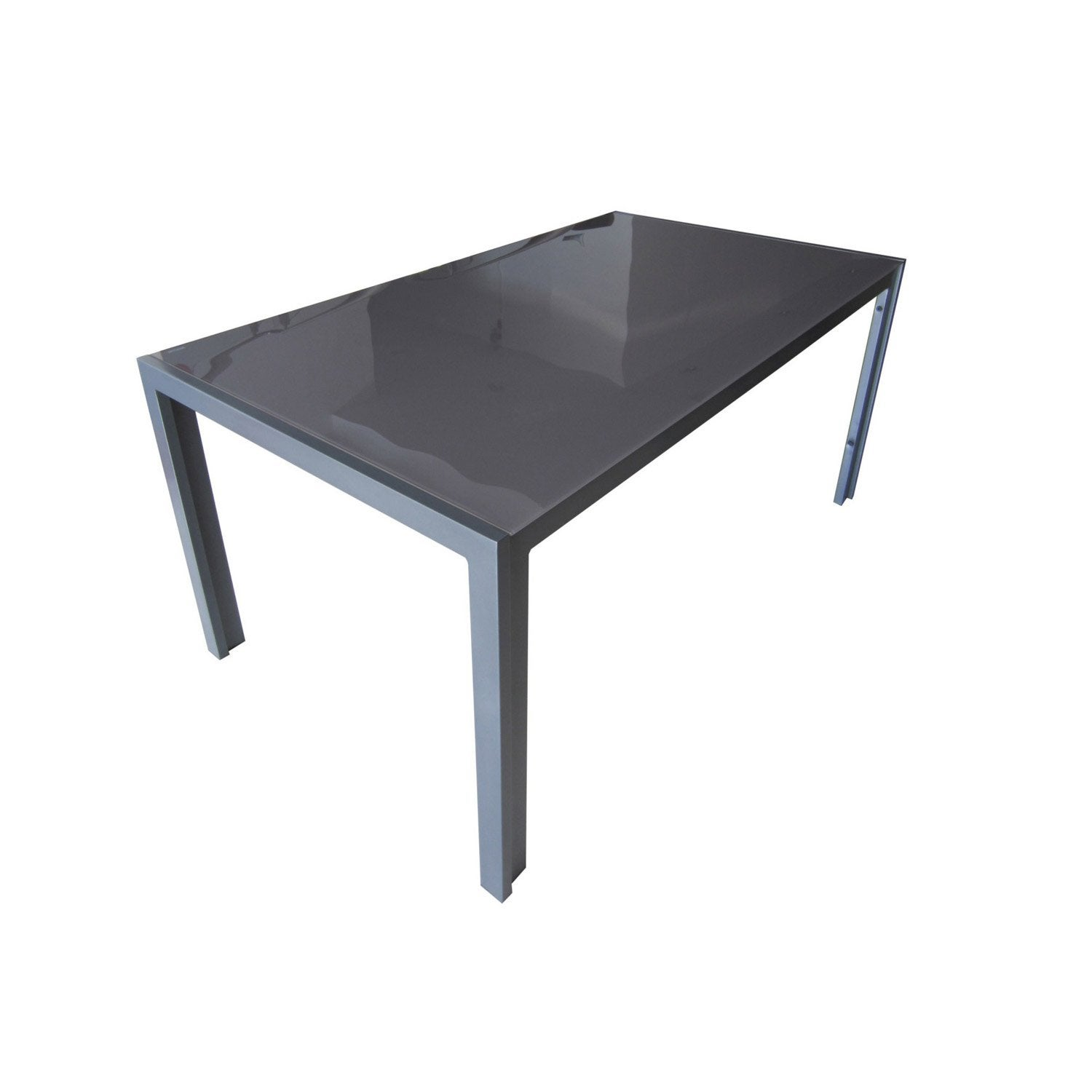 table de jardin rectangulaire grey gris 6 personnes. Black Bedroom Furniture Sets. Home Design Ideas