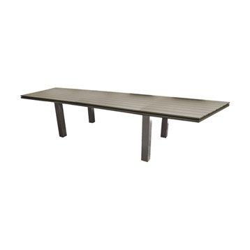 Table de jardin Elena rectangulaire taupe 6/8 personnes