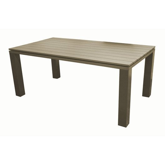 table de jardin elena rectangulaire taupe 8 personnes leroy merlin. Black Bedroom Furniture Sets. Home Design Ideas