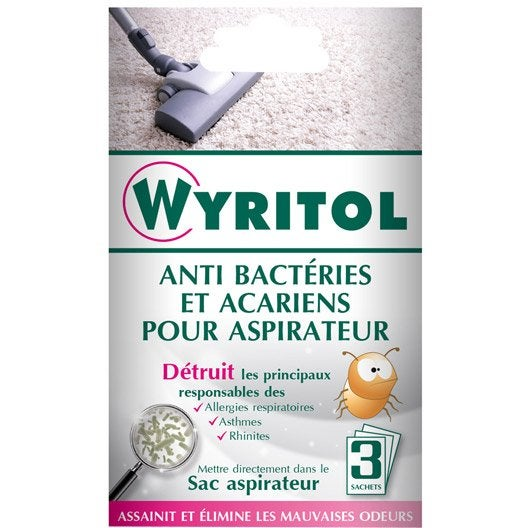 d sinfectant anti bact rien aspirateur wyritol 3 x 10 g. Black Bedroom Furniture Sets. Home Design Ideas