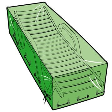 Housse de protection pour bain de soleil L.200 x l.75 x H.45 cm
