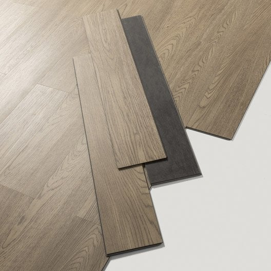 Lame pvc clipsable walden natural gerflor senso lock leroy merlin - Pose parquet pvc clipsable ...
