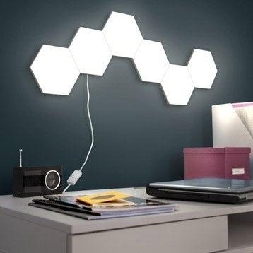 Panneau LED Puzzle, 1 x 3.5 W, plastique blanc, INSPIRE