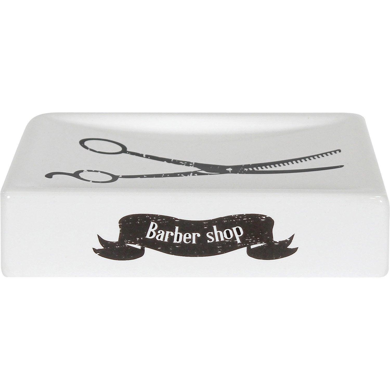 Porte-savon céramique Barnabe, noir noir 0 et blanc