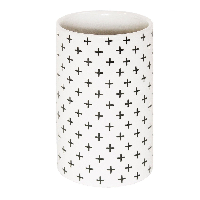Gobelet céramique Cross, gris zingué 1, blanc