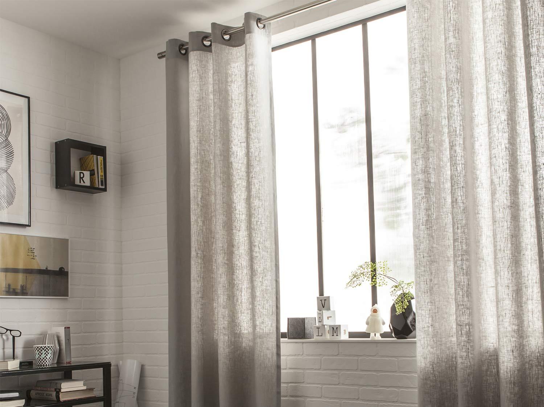 rideaux voilage bouchara trendy linge de maison linge de lit rideaux dco bouchara voilage with. Black Bedroom Furniture Sets. Home Design Ideas