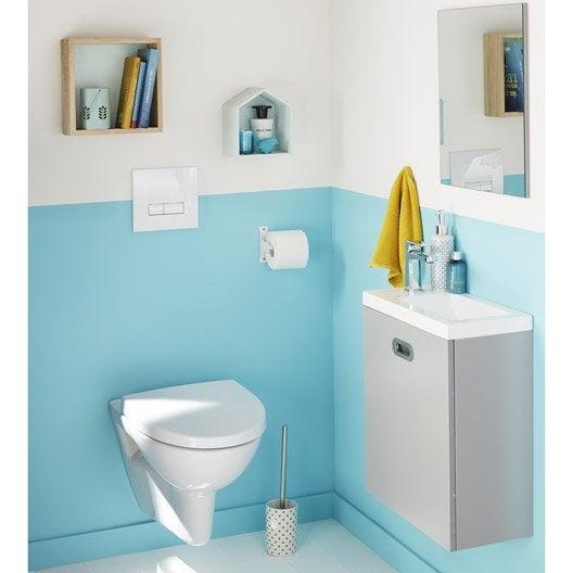 meuble lave mains gris avec miroir milo leroy merlin. Black Bedroom Furniture Sets. Home Design Ideas