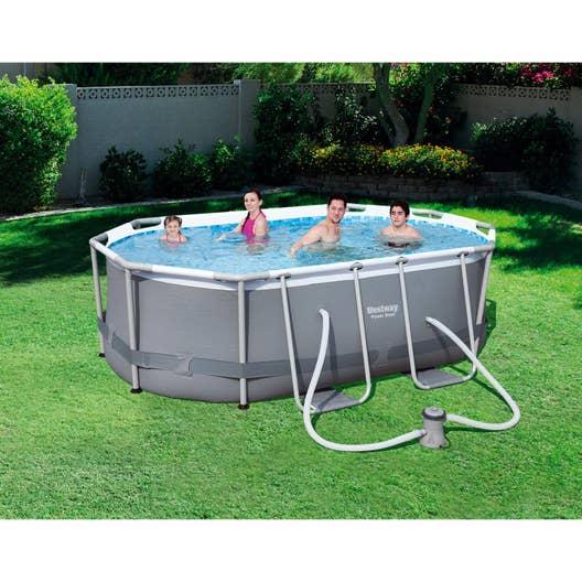 Piscine hors sol tubulaire powersteel bestway l 3 x l 2 for Best way piscine