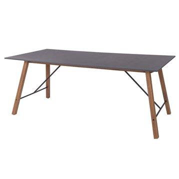 Table de jardin Archi rectangulaire gris 6 personnes