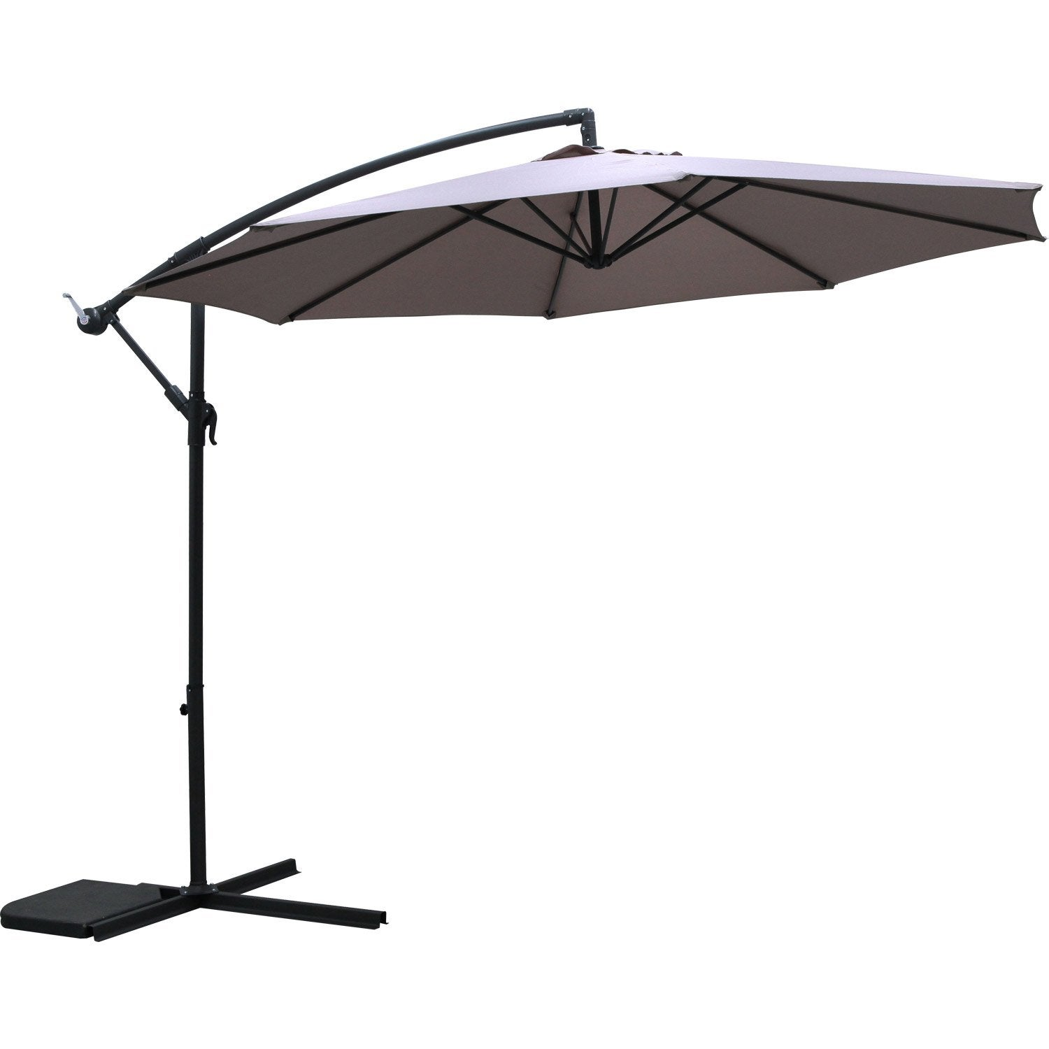 parasol d port taupe octogonal x cm leroy. Black Bedroom Furniture Sets. Home Design Ideas