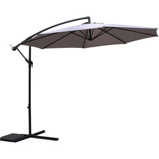 parasol d port taupe octogonal x cm leroy merlin. Black Bedroom Furniture Sets. Home Design Ideas