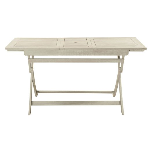 Table de jardin aluminium bois r sine leroy merlin for Table 4 personnes
