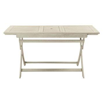 Table de jardin NATERIAL Portofino rectangulaire gris 4/6 personnes