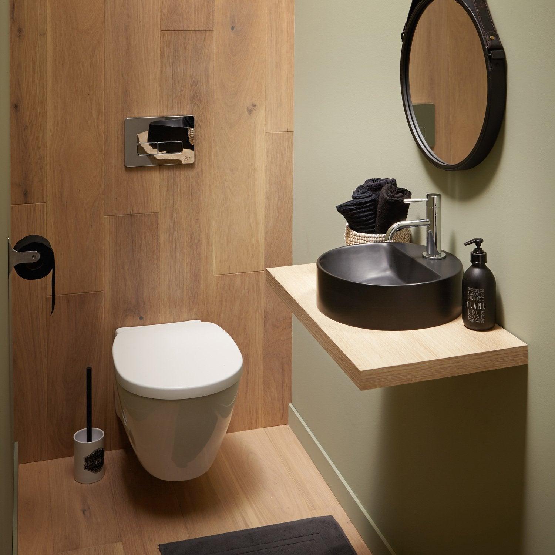 Les wc et lave mains dans un espace zen leroy merlin for Toilette dans salle de bain