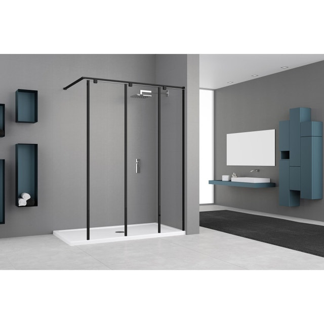 douche l 39 italienne avec une paroi fixe version verri re. Black Bedroom Furniture Sets. Home Design Ideas