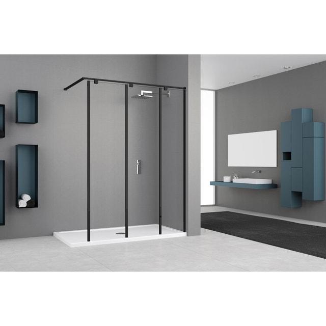 douche l 39 italienne avec une paroi fixe version verri re. Black Bedroom Furniture Sets. Home Design Ideas