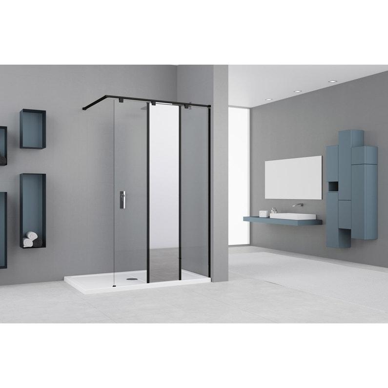 Paroi De Douche A L Italienne L 50 Cm L 50 Cm Verre Miroir Et Transparent 8 M