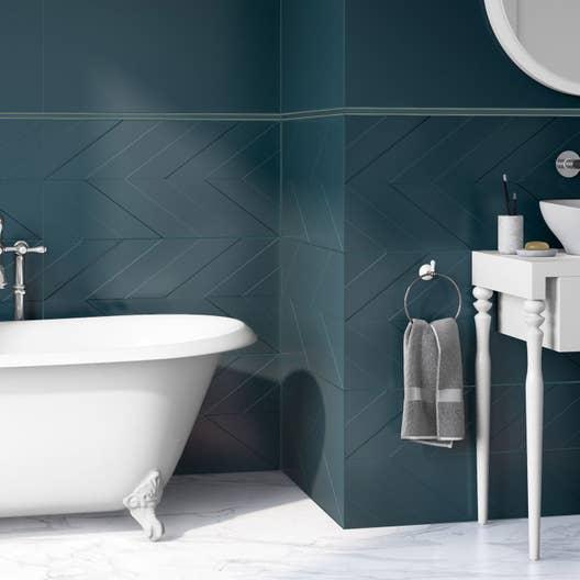 listel home bleu l 2 x cm leroy merlin. Black Bedroom Furniture Sets. Home Design Ideas
