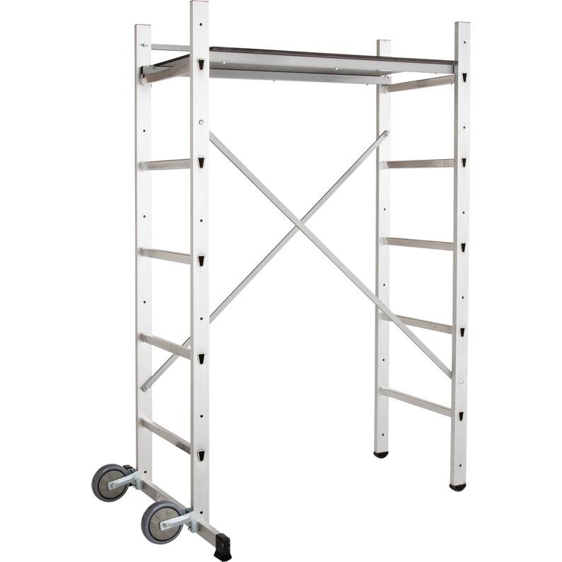 Echafaudage Aluminium 9473 322 Hailo Hauteur De Travail 3 M