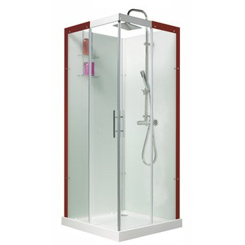 Cabine de douche Thalaglass 2 simple thermostatique carré 90x90 cm