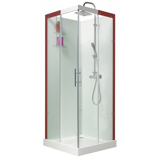 cabine de douche carr 80x80 cm thalaglass 2 thermo