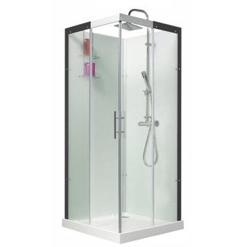 Cabine de douche salle de bains au meilleur prix leroy for Cabine de douche 90x90 brico depot