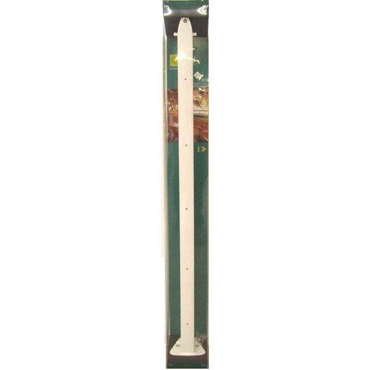 Poteau pour garde-corps TIERAL aluminium blanc H.98 x l.4 cm ...