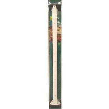 Poteau pour garde-corps TIERAL aluminium blanc H.98 x l.4 cm